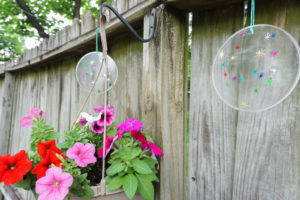 Resin Suncatcher hanging outside