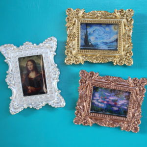 Ornate Mini Resin Frame Art Magnets DIY