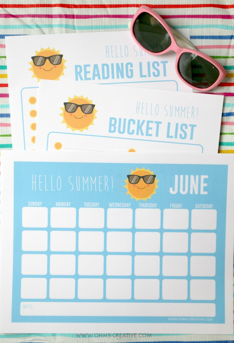 Resin Crafts Blog | Summer | Summer Activities | Summer Organization | Free Printables | Printable Activities |
