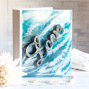 Poured Resin Wedding Keepsake Book Box
