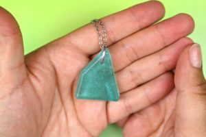 Sea Glass Inspired Resin Jewelry