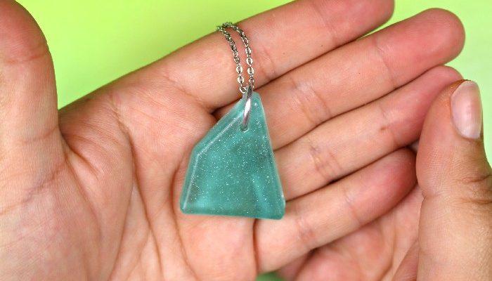Sea Glass Inspired Resin Jewelry