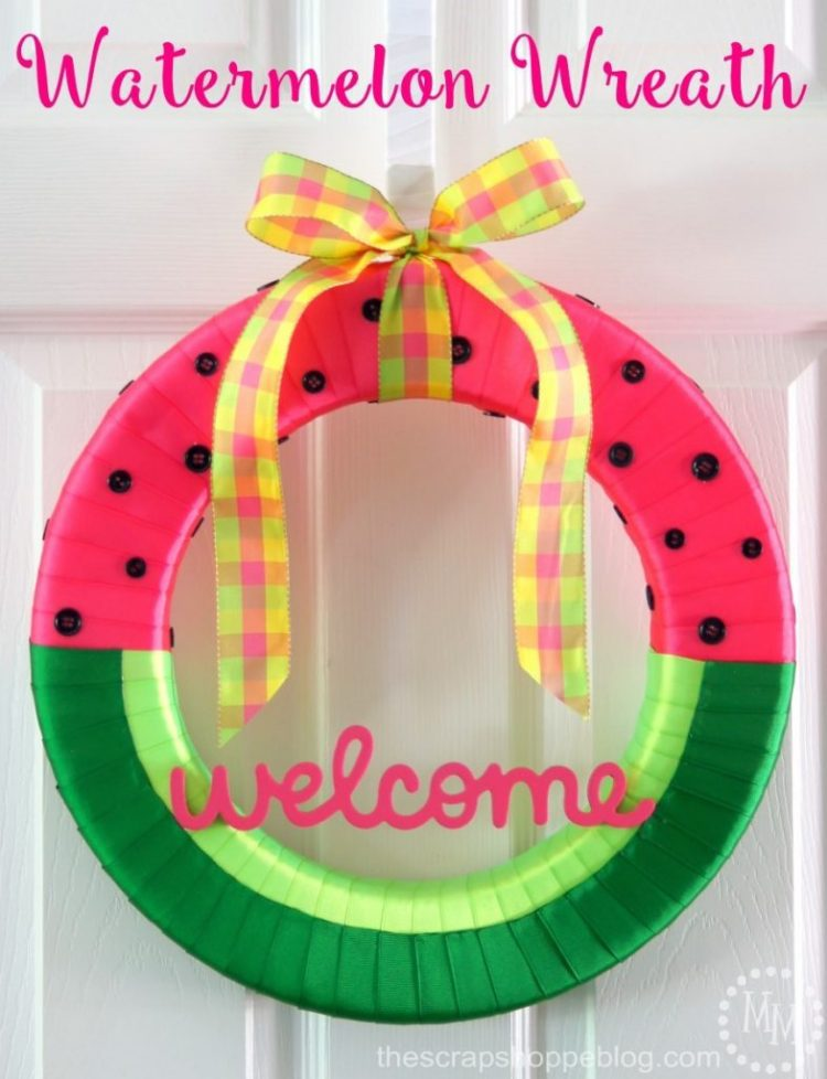 watermelon summer diy wreath projects crafts craft adults fun scrap shoppe creative wreaths painting party create link resin wednesday whimsy