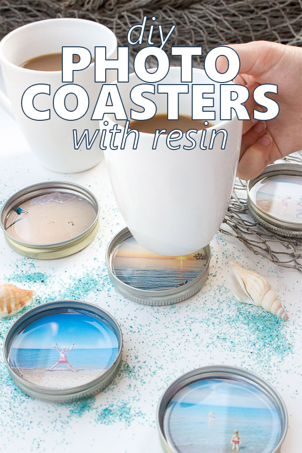 Such a fun idea! DIY photo coasters with resin. #resincrafts #keepsake #giftidea