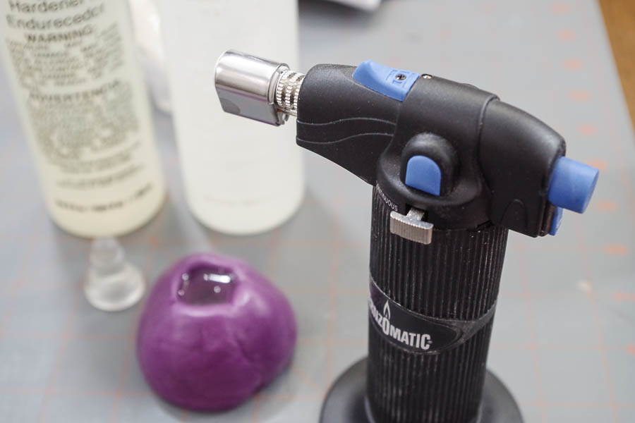 DIY Epoxy Replacement Game Piece - EasyCast Clear Casting Epoxy - pop bubbles with micro butane torch