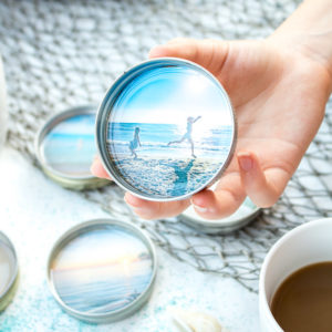 DIY Vacation Photo Coasters with Resin