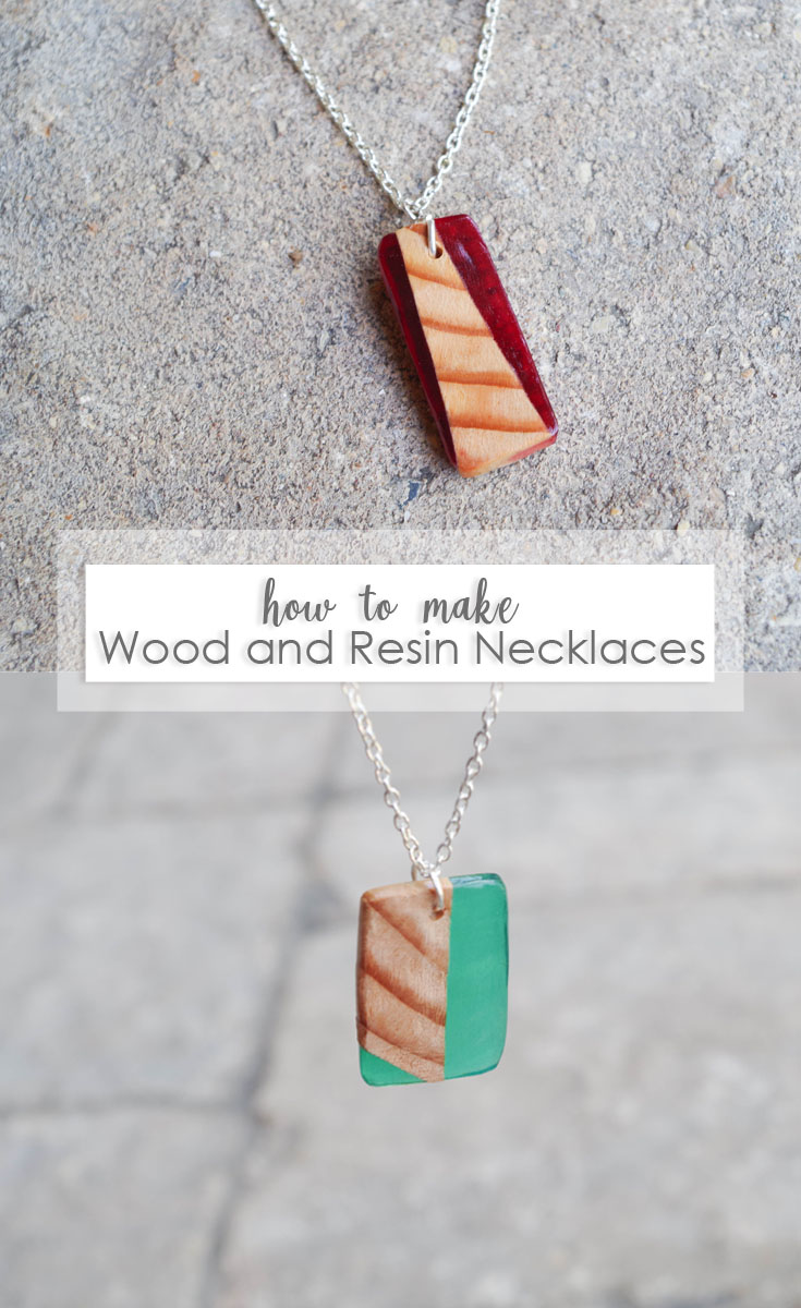 DIY Wood and Resin Necklace Pendants