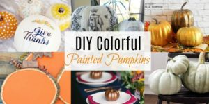 DIY Colorful Painted Pumpkins