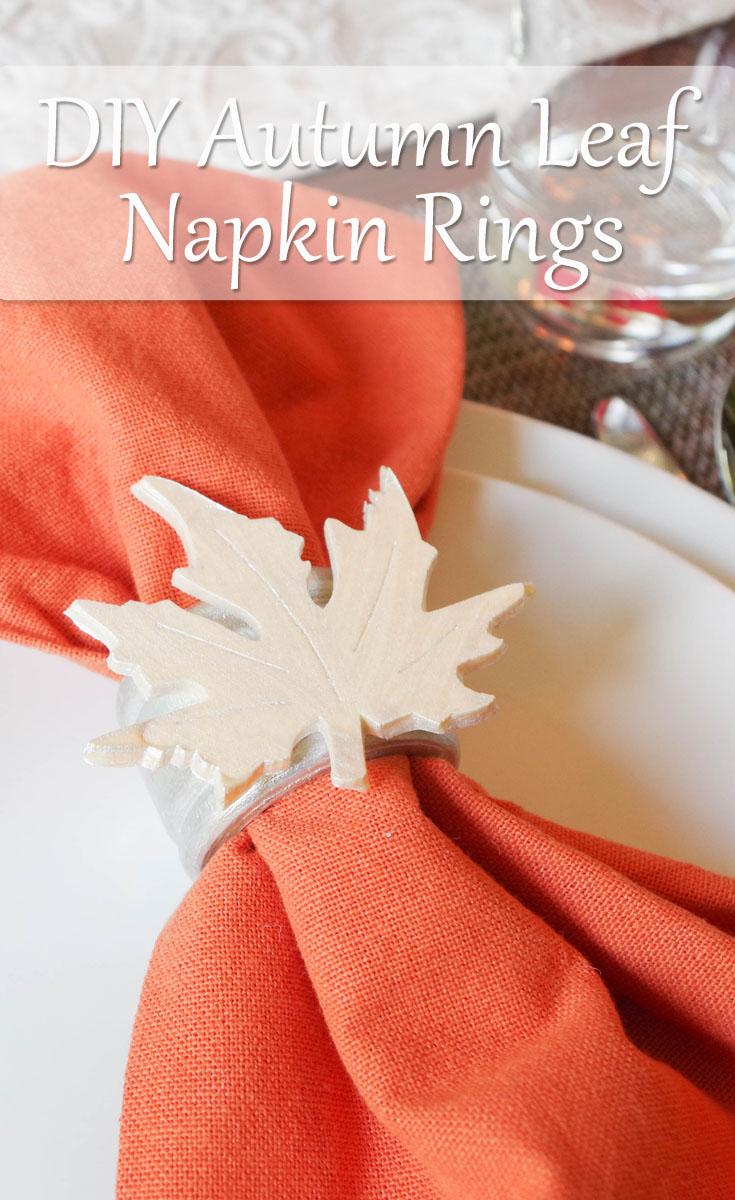 Autumn Leaf Napkin Rings Resin Crafts