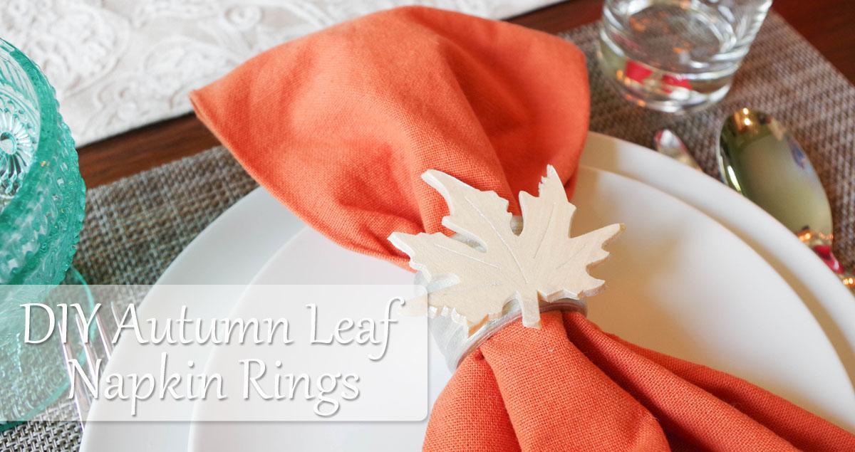 diy autumn leaf napkin rings social media image