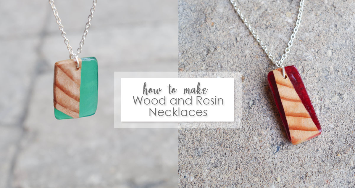 how to make wood and resin necklace pendants