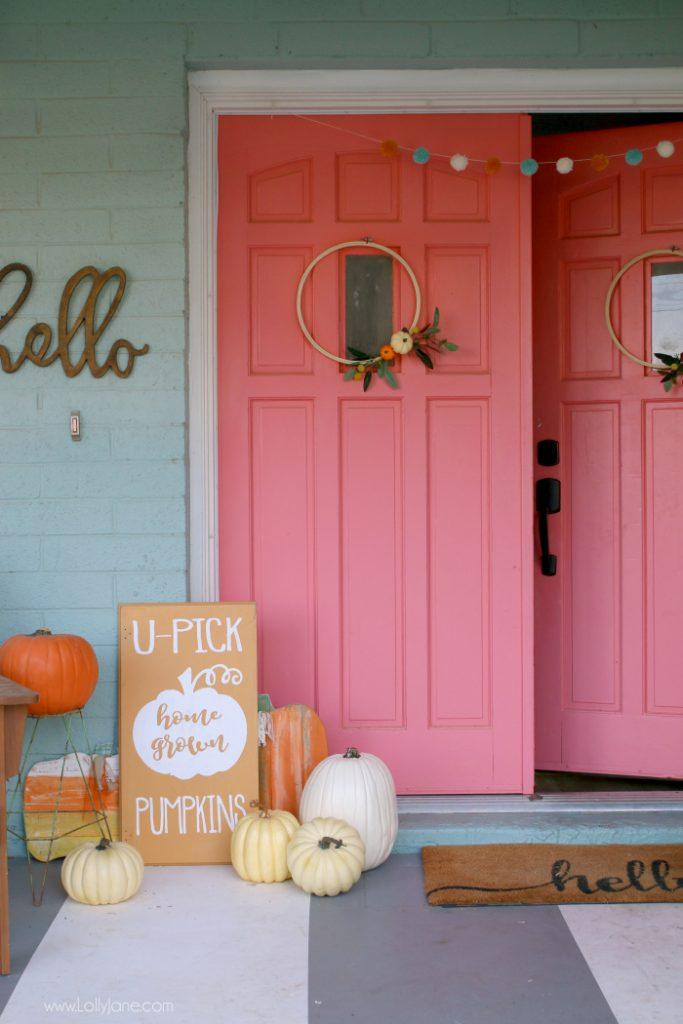 Colorful Fall Farmhouse Porch Easy Decor Resin Crafts