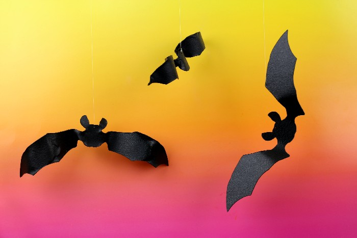 My Creepy Bats Were Finished And Ready To Be Hung By Their Invisible Strings Hang These Your Front Door Startle Trick Or Treaters This