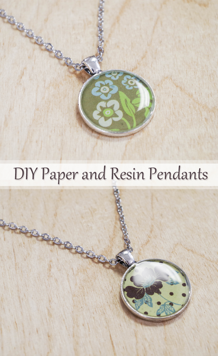 DIY Paper and Resin Pendants pinterest image