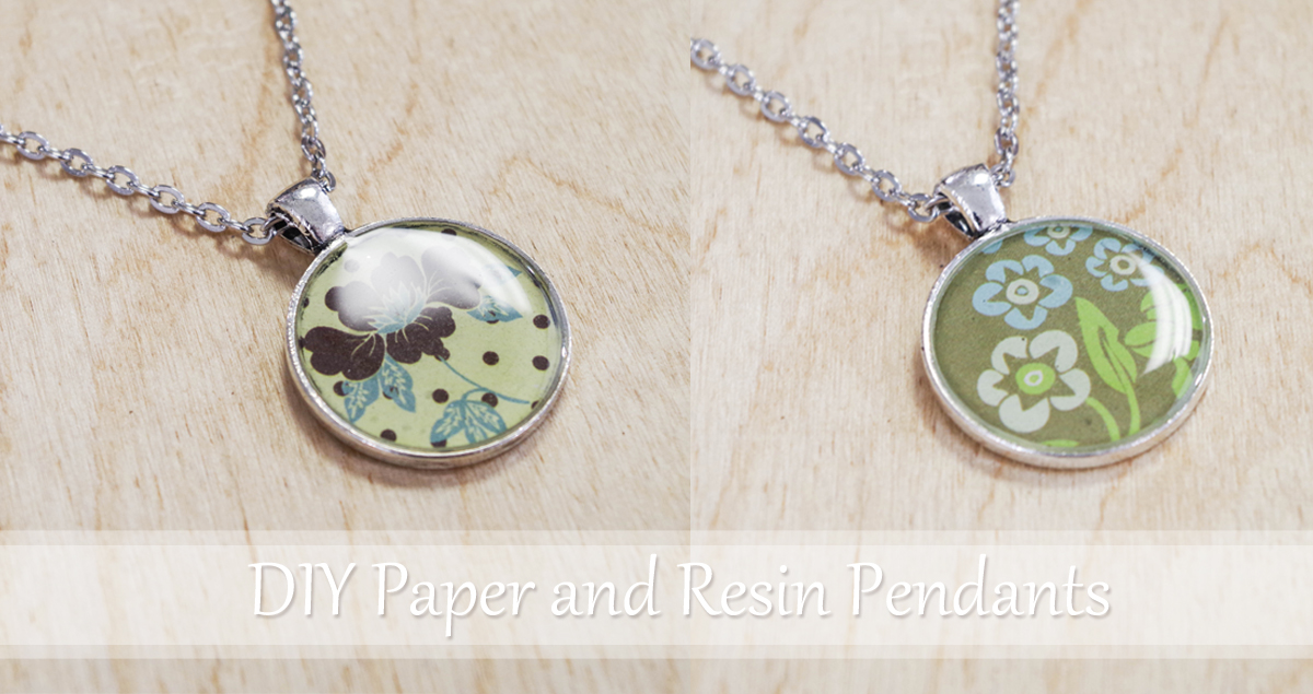 DIY Paper and Resin Pendants social media image
