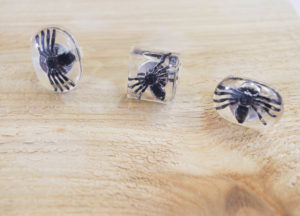 DIY Spider Resin Rings