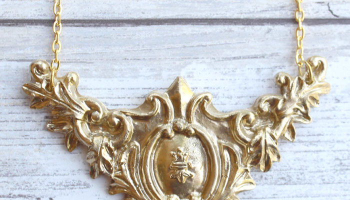 Victorian Gold Necklace With FastCast Resin DIY
