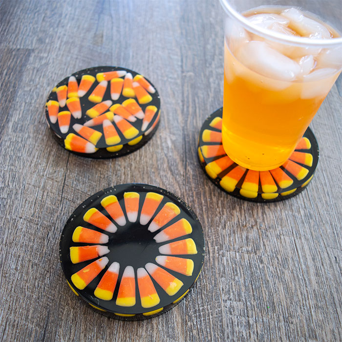 Candy Corn Coasters