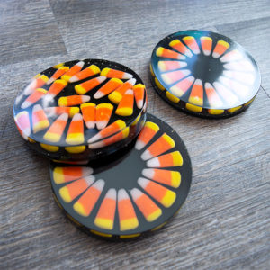 How to make Candy Corn Coasters