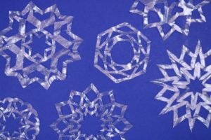 Resin-Coated Coffee Filter Snowflakes