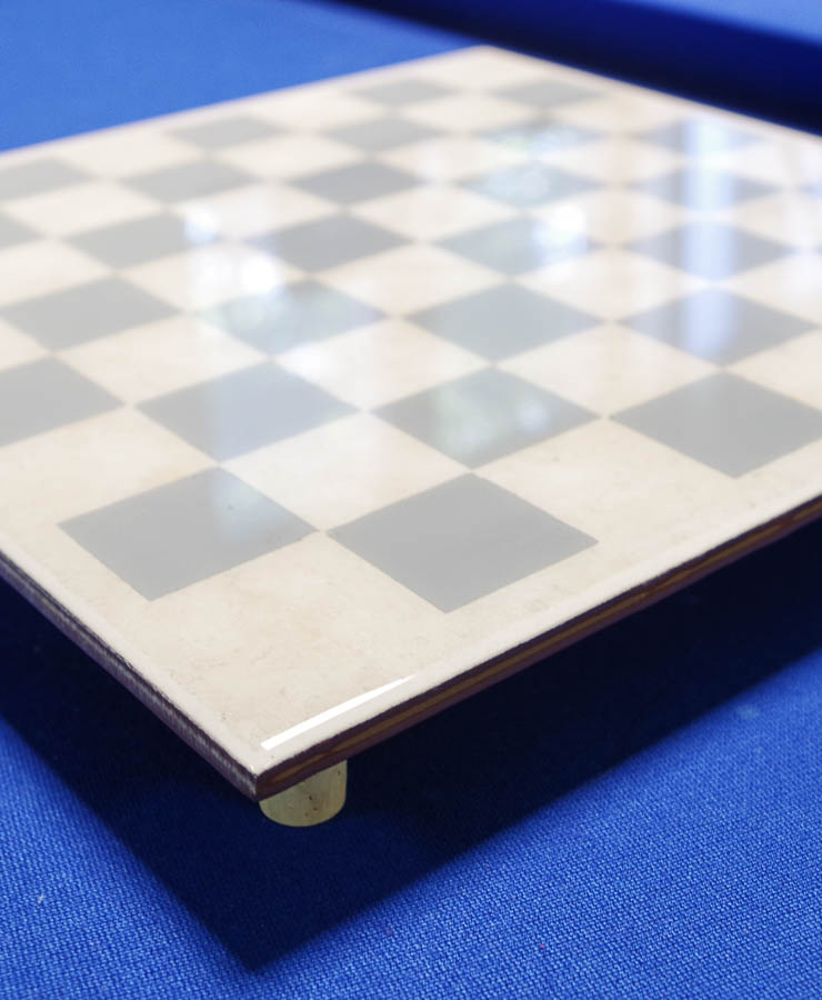 Upcycle Tile to Resin Coated Chess Board - finished photo vertical