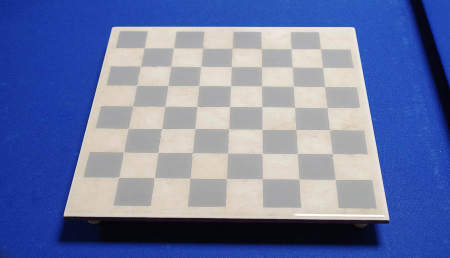 Upcycle Tile to Resin Coated Chess Board - finished photo horizontal