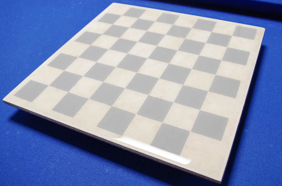 Upcycle Tile to Resin Coated Chess Board - finished photo horizontal angled