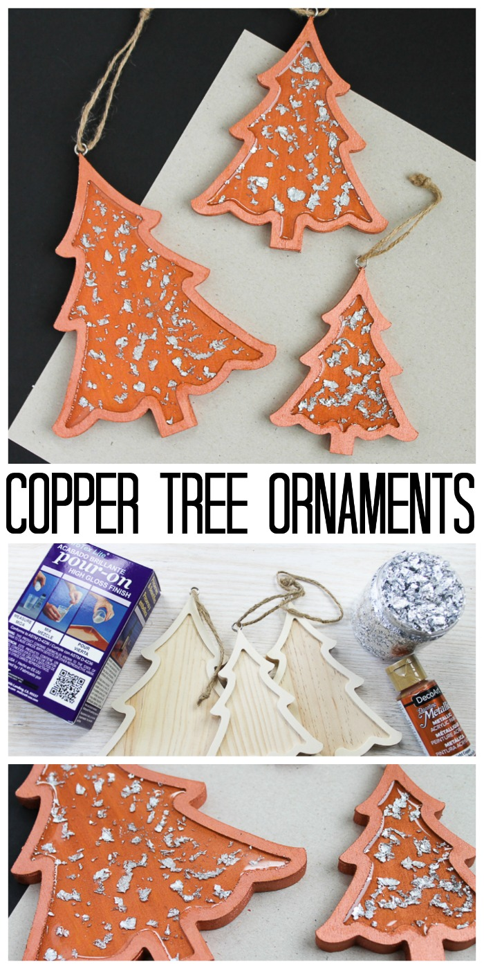Make these copper tree Christmas ornaments for your Christmas tree this holiday season! #christmas #christmastree #christmasornaments