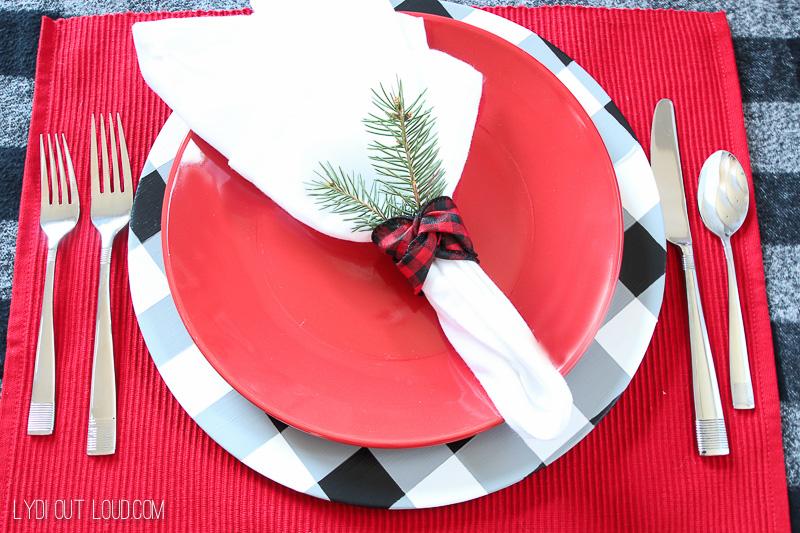 Buffalo Check Charger Plates DIY