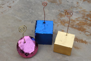 FastCast Resin Metallic Gem Place-card Photo Holders DIY