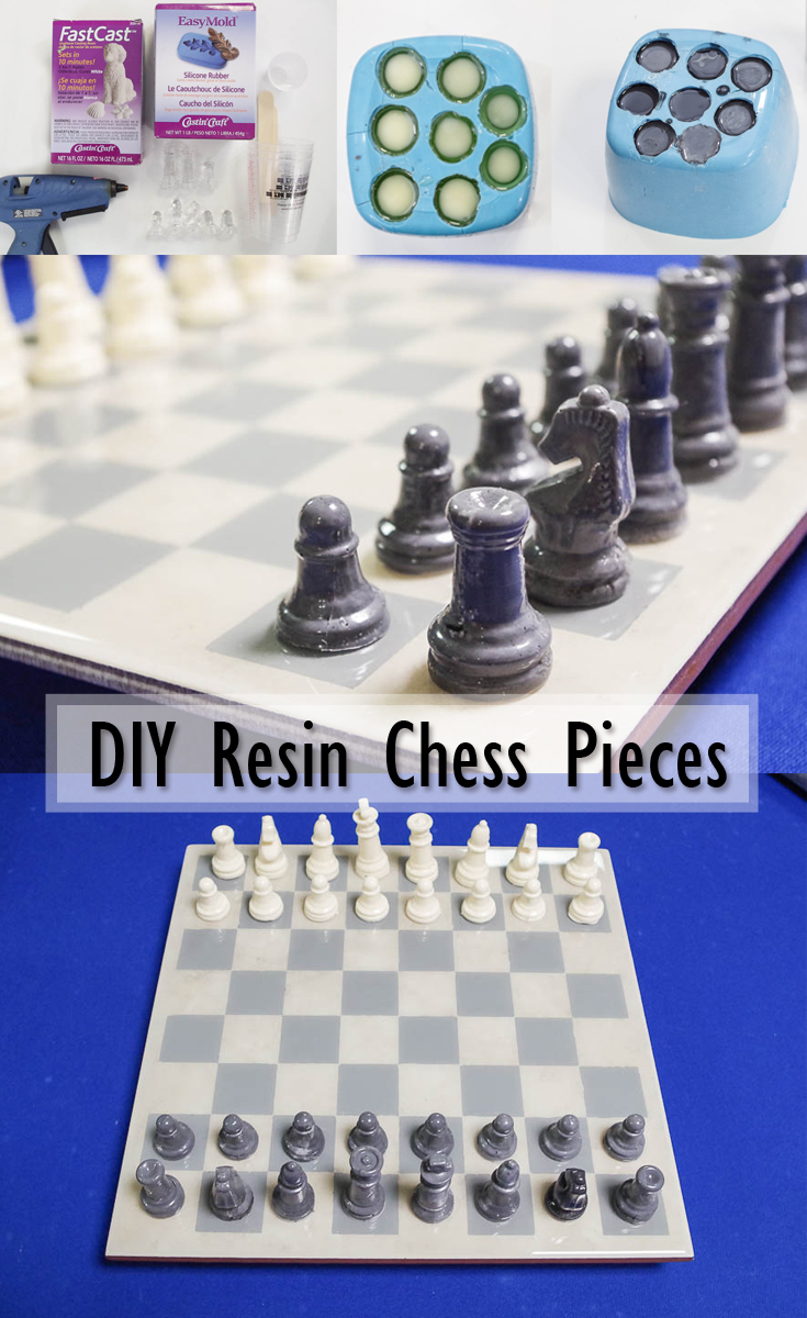 DIY Resin Chess Pieces Pinterest Image