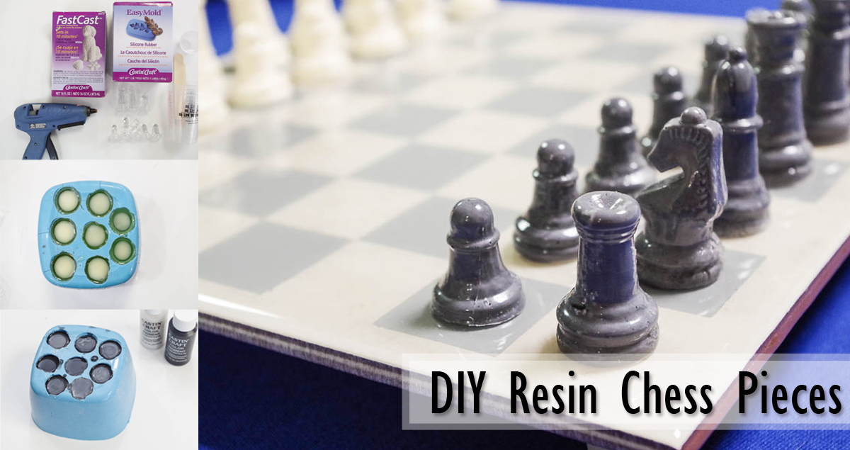 Diy Resin Chess Pieces Resin Crafts