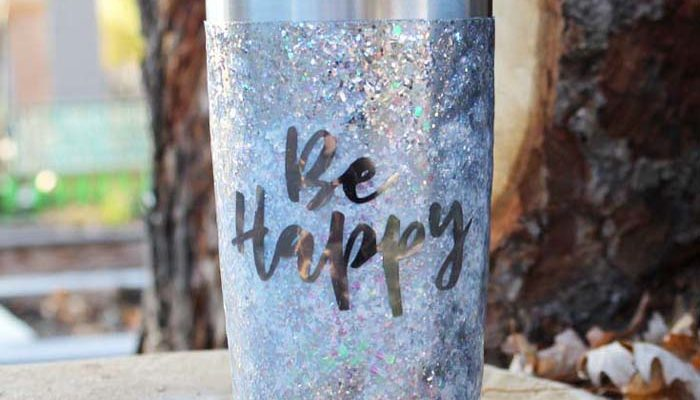 Glitter Drink Tumbler with Resin DIY