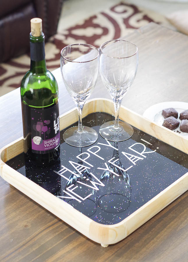 Happy New Year Glitter Resin Tray- final photo vertical