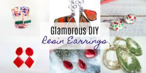 Glamorous DIY Resin Earrings