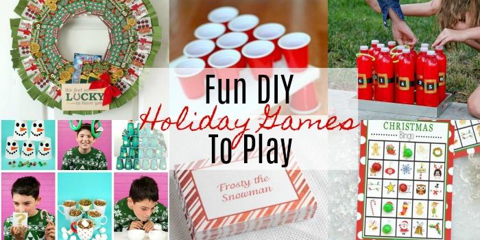 DIY Holiday Games to Play This Holiday Season