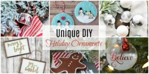 Unique DIY Holiday Ornaments