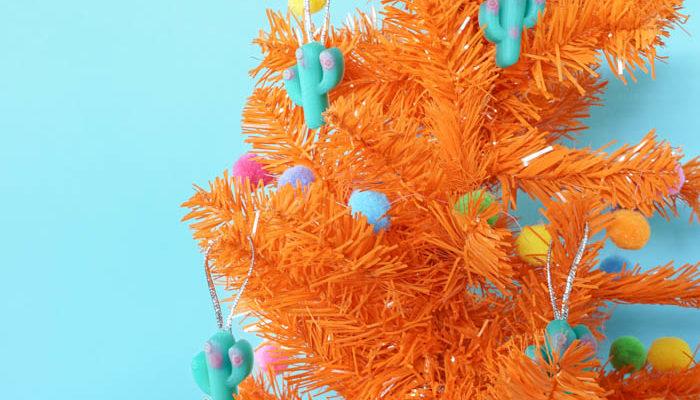 Resin Cactus Ornaments