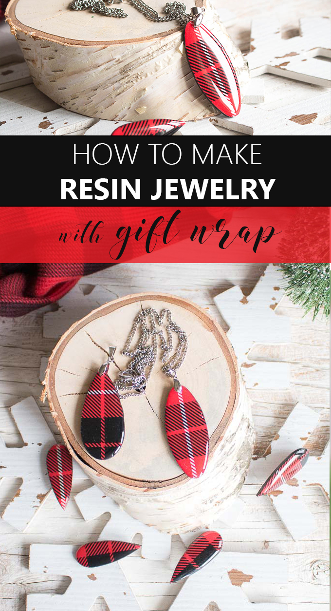 how to make resin jewelry with gift wrap
