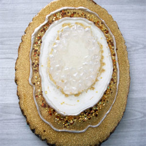 Resin Wood Slice Geode