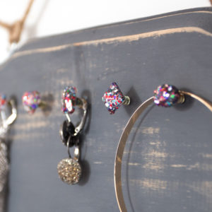 DIY Rustic Glam Jewelry Organizer