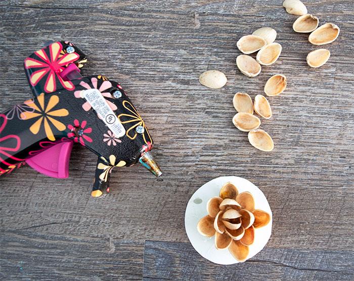 Pistachio Shell Flower