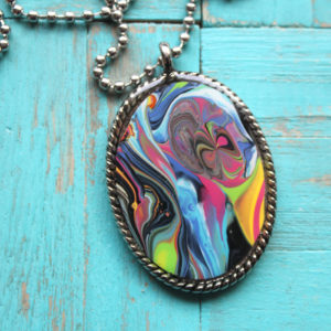 Make a Resin Pendant from Dirty Pour Paint Skins