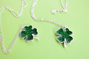 Shamrock Necklace for Saint Patrick's Day
