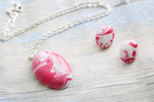 Easter Egg Necklace and Earrings