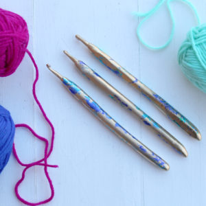 Crochet Hooks Customized with EasySculpt Epoxy Modeling Clay