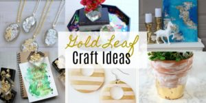 Beautiful Gold Leaf Craft Ideas