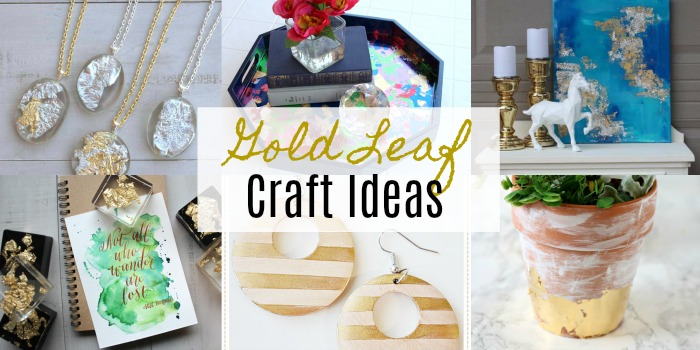 Beautiful Gold Leaf Craft Ideas Resin Crafts