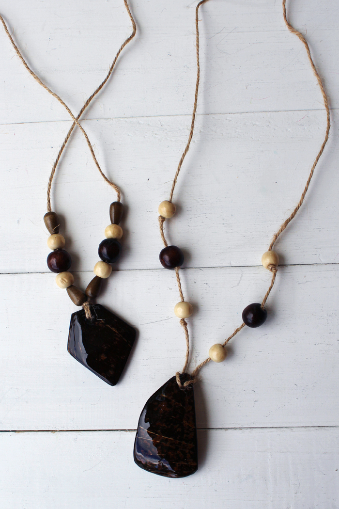 Coconut Shell High Gloss Resin Necklace Diy Resin Crafts