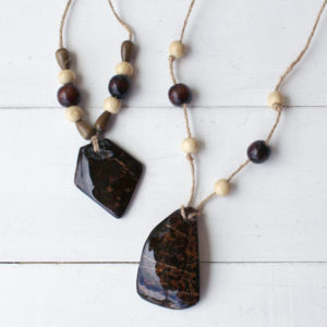 Coconut Shell High Gloss Resin Necklace DIY